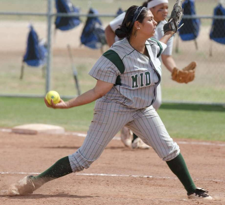 Midand College's Yolanda Kios delivers a pitch Thursday against Odessa College. Photo by Tim Fischer/Midland Reporter-Telegram Photo: Tim Fischer