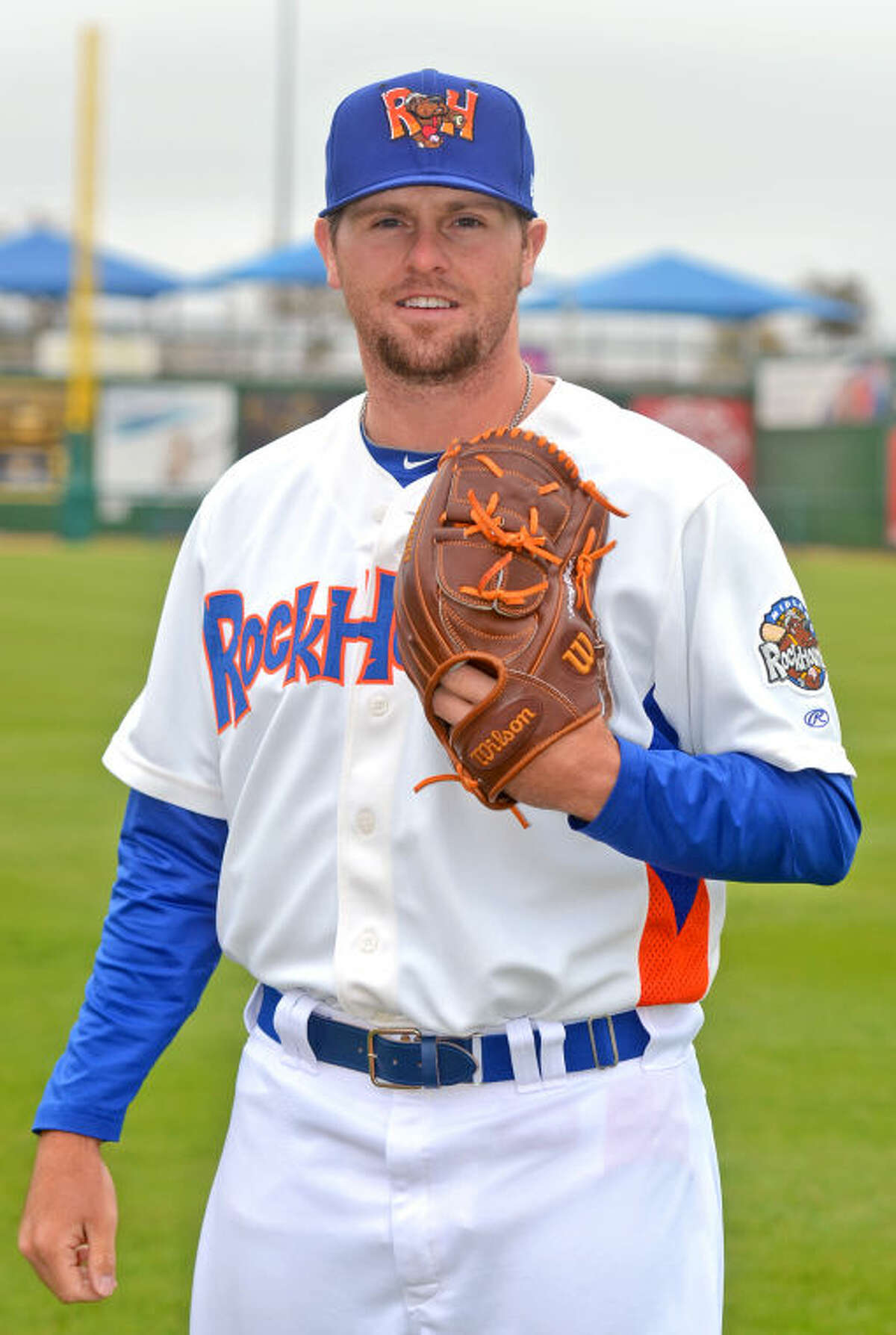 Feature portrait of Rockhounds pitcher Zach Neal during the season opening media day Tuesday at Citibank Ballpark. James Durbin/Reporter-Telegram