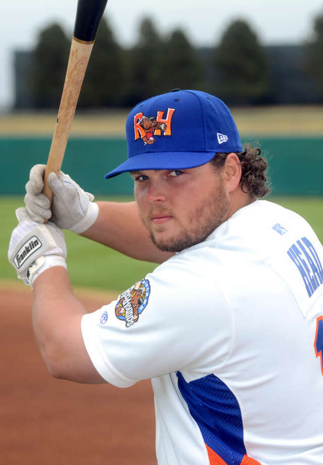 Feature portrait of Rockhounds player Miles Head during the season opening media day Tuesday at Citibank Ballpark. James Durbin/Reporter-Telegram Photo: JAMES DURBIN