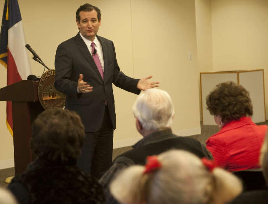 US Senator Ted Cruz speaks Thursday at the Petroleum Museum about his time in the Senate so far. Tim Fischer\Reporter-Telegram Photo: Tim Fischer