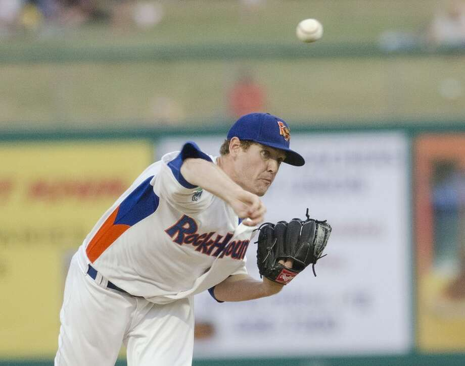RockHouds pitcher Dan Straily throws a pitch Thursday during the RockHounds game against the Arkansas Travelers at Citibank Ballpark earlier this season. Cindeka Nealy/Reporter-Telegram Photo: Cindeka Nealy