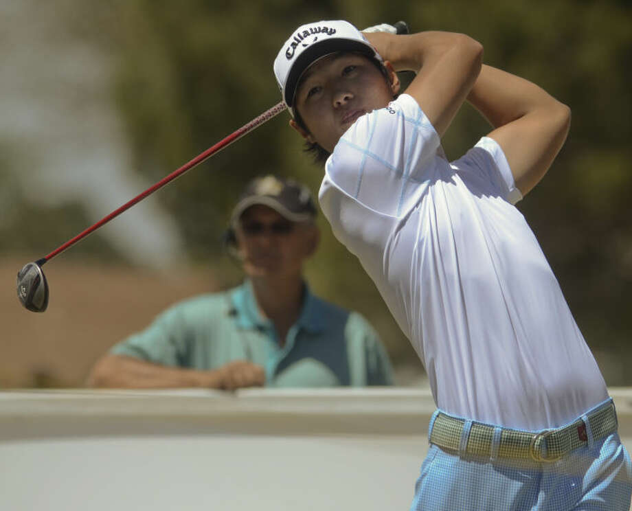 Danny Lee watches his shot Friday during the second round of the WNB Golf Classic at Midland Country Club. Tim Fischer\Reporter-Telegram Photo: Tim Fischer