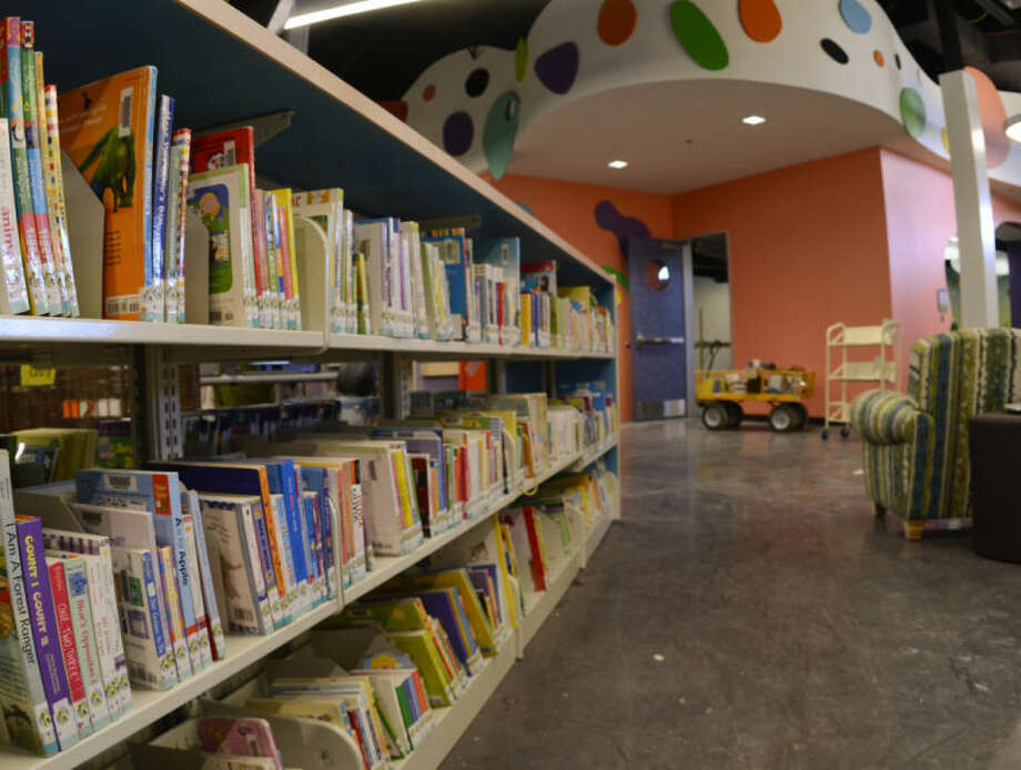 The children's area of the new library is very colorful and will have special features for children. Tim Fischer\Reporter-Telegram Photo: Tim Fischer