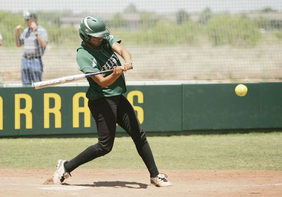 Debra Lorell hits a game clinching RBI single on Saturday during the Lady Chaparrals game against El Paso Community College at Midland College. Lorell broke the College's home run record hitting her 21st during game one of a double-header. Cindeka Nealy/Reporter-Telegram Photo: Cindeka Nealy