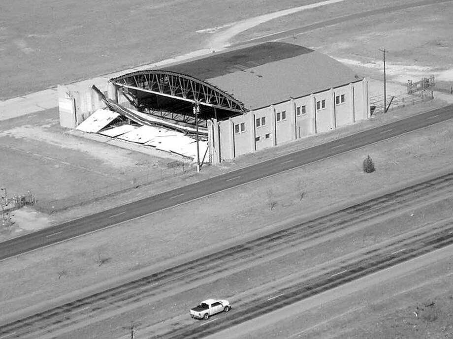 Damaged 1940s-era hangar at Midland International Airport soon will be demolished. Photo: Courtesy Photo