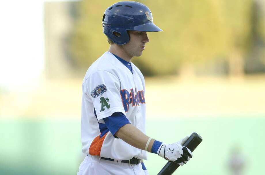 RockHounds shortstop Dusty Coleman heads to the dugout after striking out during a game earlier this season against Springfield at Citibank Ballpark. The RockHounds lost to the Missions on Sunday, 7-4, getting swept in the series. Cindeka Nealy/Reporter-Telegram Photo: Cindeka Nealy