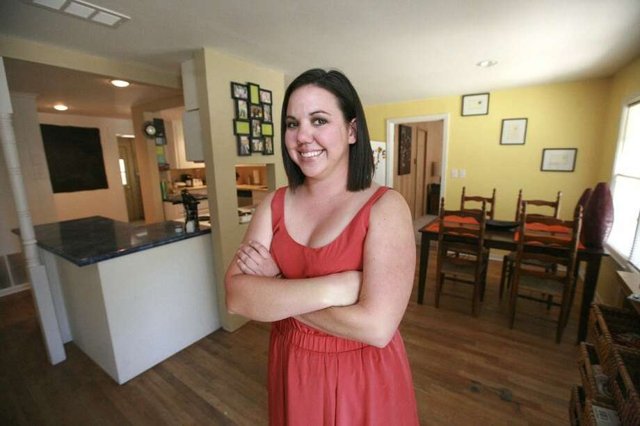 Chelsea Fredrickson was able to save for a down payment on her new home by living with her parents after graduating from college. Cindeka Nealy/Reporter-Telegram Photo: Cindeka Nealy