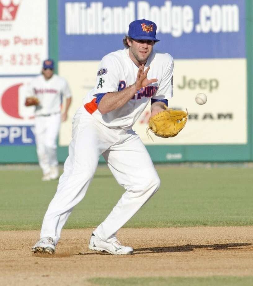 RockHounds third baseman Josh Horton prepares to catch the ball and attempt a double play Tuesday during the Hounds game against Corpus Christi at Citibank Ballpark. Cindeka Nealy/Reporter-Telegram Photo: Cindeka Nealy