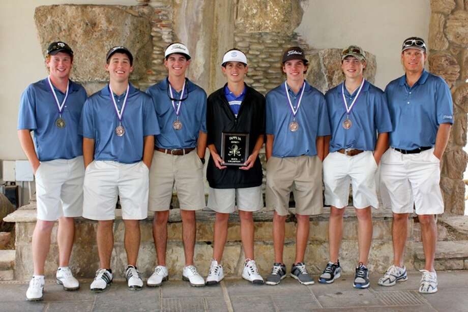 Trinity's TAPPS 1-3A boys district championship golf team.Courtesy photo
