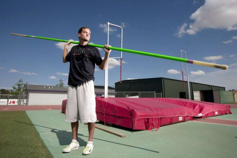 Midland High pole vaulter Chase Jones is competing in the UIL State Track and Field meet on Saturday in Austin. Cindeka Nealy/Reporter-Telegram Photo: Cindeka Nealy
