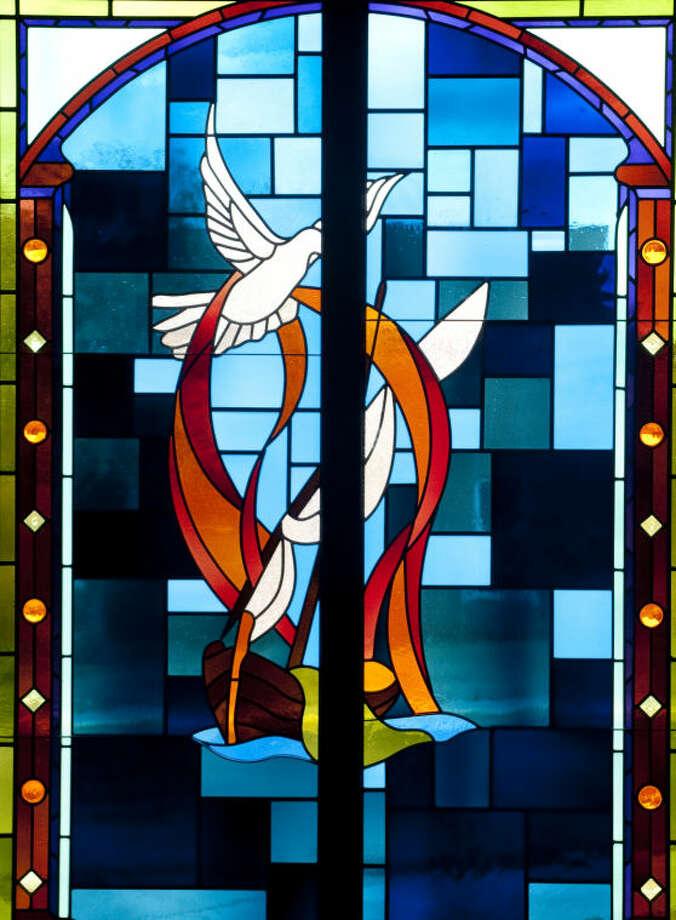 Stained glass panels at First Baptist Church. Tim Fischer\Reporter-Telegram Photo: Tim Fischer