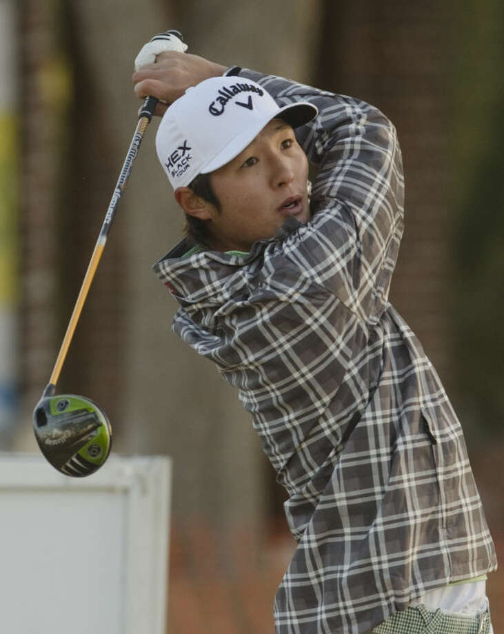 Danny Lee watches his tee shot Thursday on the first day of the Western National Bank Golf Classic at Midland Country Club. Tim Fischer\Reporter-Telegram Photo: Tim Fischer