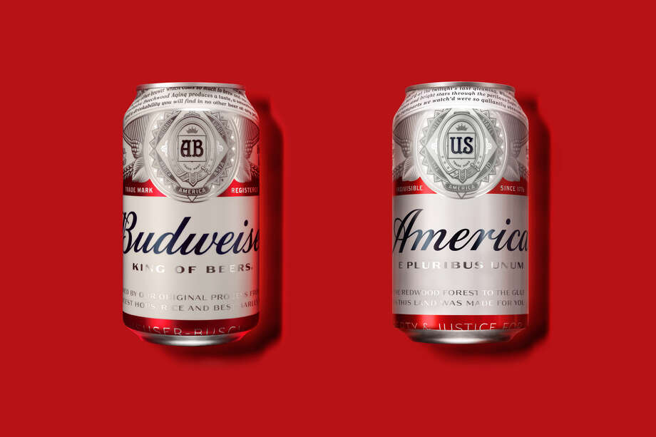 "Anheuser-Busch wants to replace ""Budweiser,"" the name of the beer, with the word ""America,"" the name of our country, for the summer. Photo: Anheuser-Busch"