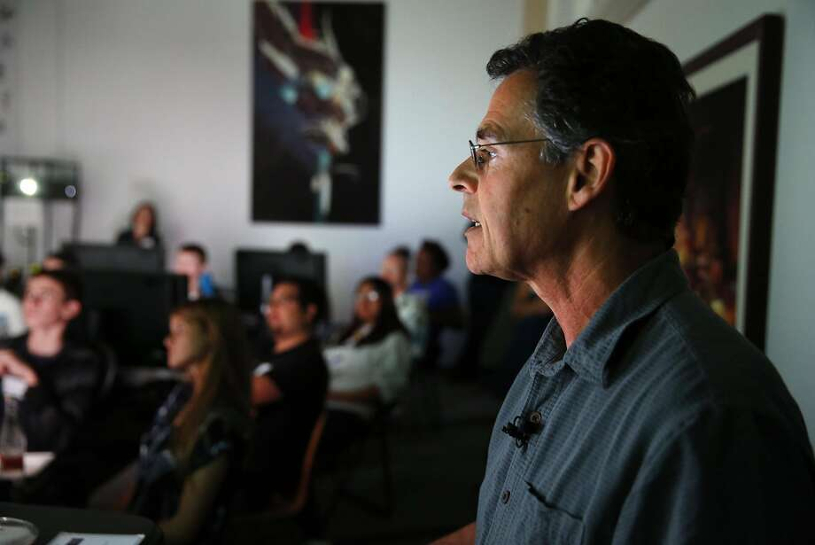 Tony DeRose, a senior scientist at Pixar, leads the Pixar in a Box event. Photo: Scott Strazzante, The Chronicle