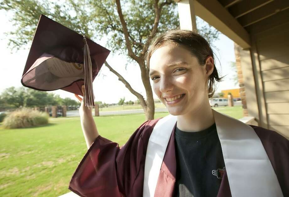 Lee senior Jessica Heard has attended the Midland Children's Rehabilitation Center since she was 4 to receive therapy for Ataxia, a condition that affects her balance and speech. Over the years she has made progress and is looking forward to graduating with her class on Saturday. Cindeka Nealy/Reporter-Telegram Photo: Cindeka Nealy