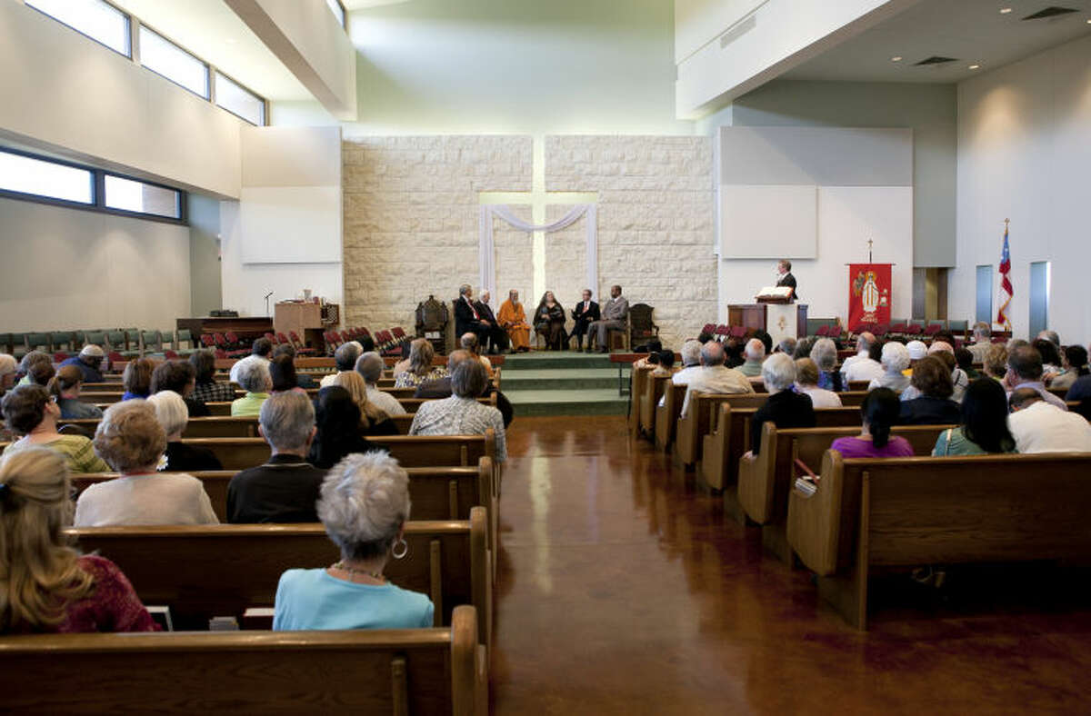 General view of the annual Interfaith Event on Wednesday at St. Nicholas' Episcopal Church. James Durbin/Reporter-Telegram