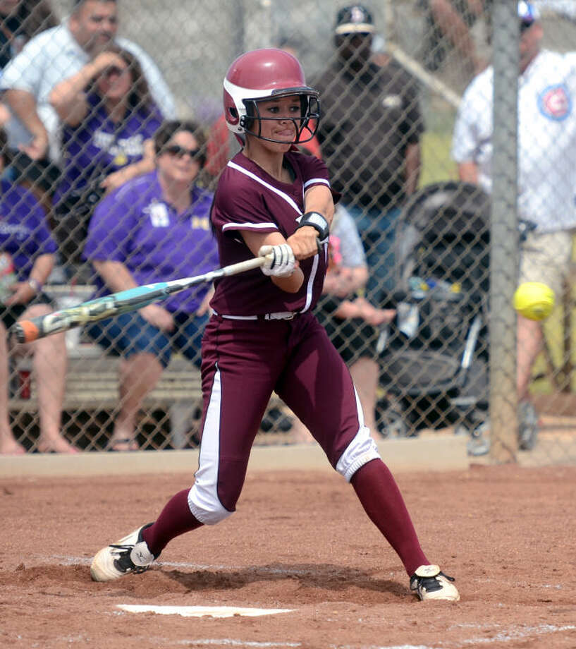 Lee junior Kylee Olivas was a first team selection as an outfielder on the 2-5A All-District team. James Durbin/Reporter-Telegram Photo: JAMES DURBIN