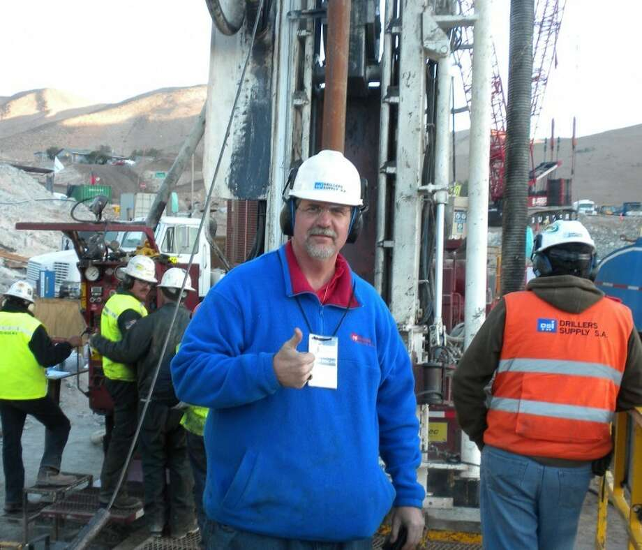 Greg Hall works to help trapped Chilean miners in October 2010. Hall will be the speaker at Centers for Children and Families' annual fundraiser. Photo: Courtesy Photo
