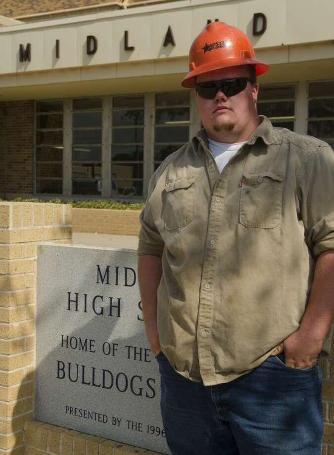 Keaton Wartman,a senior, graduating from Midland High, will go to work in the oil field, a job he currently works after school. Photo by Tim Fischer/Midland Reporter-Telegram Photo: Tim Fischer