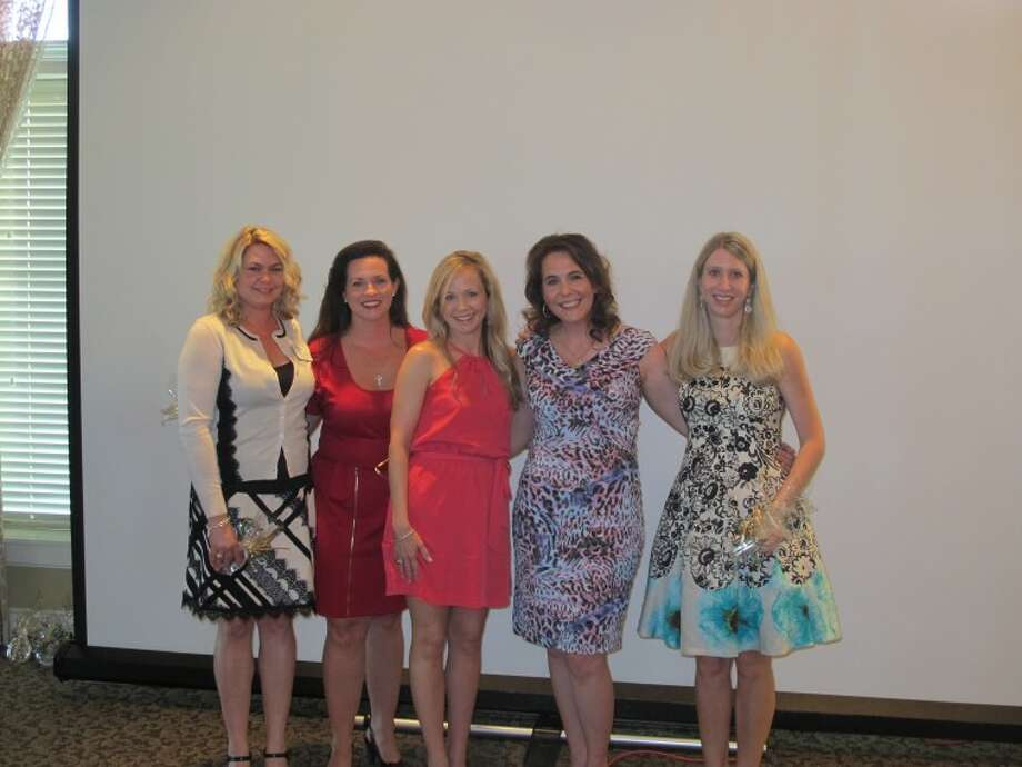 Kimberly DeFrance, fom left, Ashley Cash, Anne Mouton, Lisa Smith and Cari Guerrero.