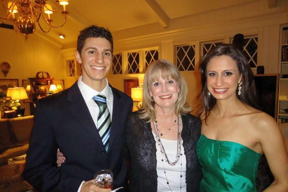 Elliott Ayoub, from left, Shavon Hankins and Emilie Ayoub Campbell.
