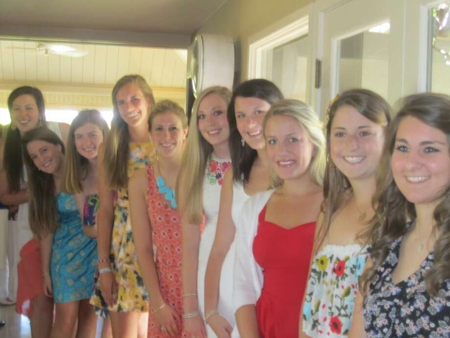 Carole Anne Nelson, from left, Callie Davenport, Libby Norwood, Madeline Spinks, Carly Tull, Catherine Gerald, Claire Renaud, Caroline Hickey, Clare Hickey and Abbye Cremer.