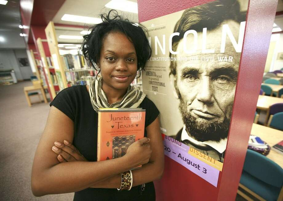 Toyia Zachery is a representation of the fruits of the Emancipation Proclamation and Juneteenth. Cindeka Nealy/Reporter-Telegram Photo: Cindeka Nealy