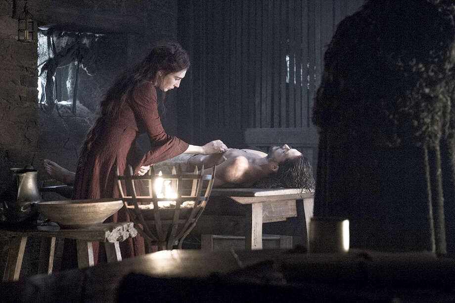 "Carice van Houten and Kit Harington in ""Game of Thrones."" Helen Sloan/HBO Photo: Helen Sloan, HBO / HBO"