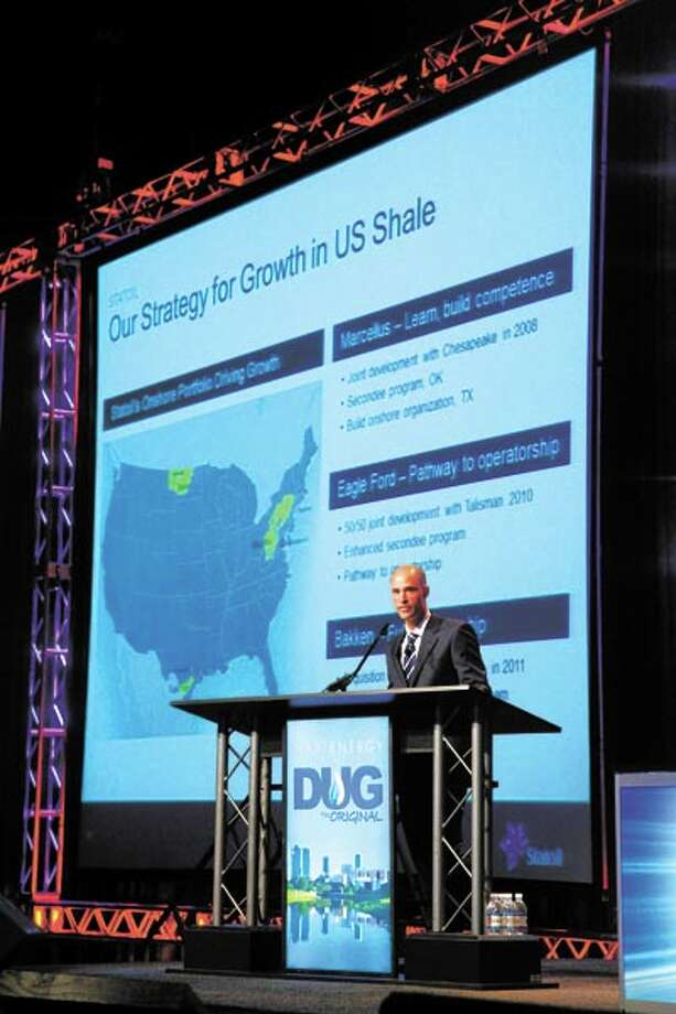 This year's DUG Permian Basin conference, to be held April 2-4 at the Ft. Worth Convention Center, will feature top industry speakers. At every DUG conference, Hart Energy brings industry experts such as Stephen Bull, vice president of Statoil, who spoke last year. Photo: TOM FOX / Tom Fox