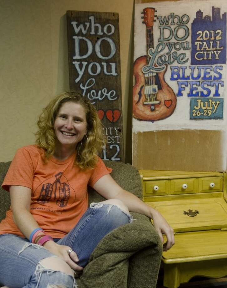 Lisa Grissom, with Promising Projects, will be organizing Blues Fest this year. Photo by Tim Fischer/Midland Reporter-Telegram Photo: Tim Fischer
