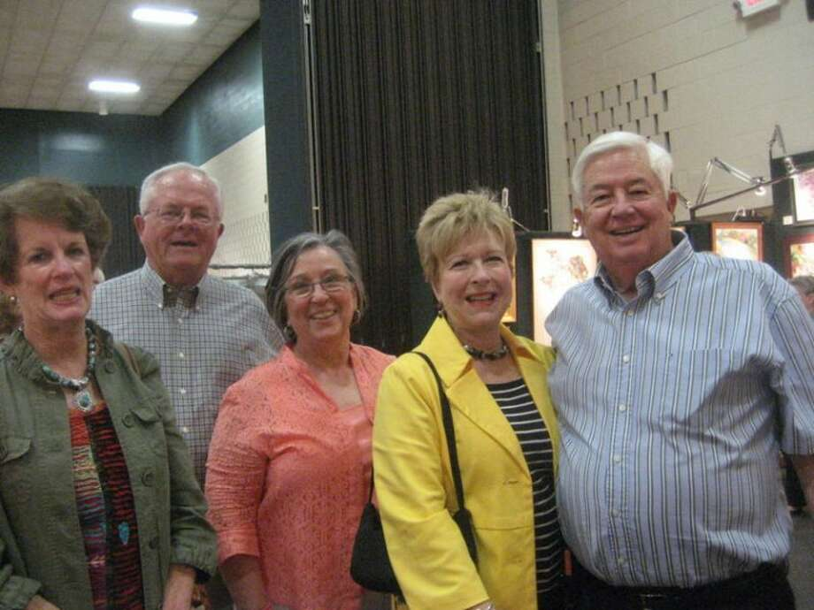 Kay Bishop from left,Tom and Jeanie Johnson, Linda and Rodney Satterwhite.