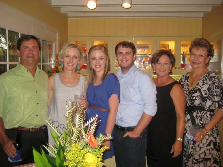 Miro Vranac, from left, Wendye Mire, Kelsye Mire, Austin Jones, Beverly Vranac and Ruth McFarland