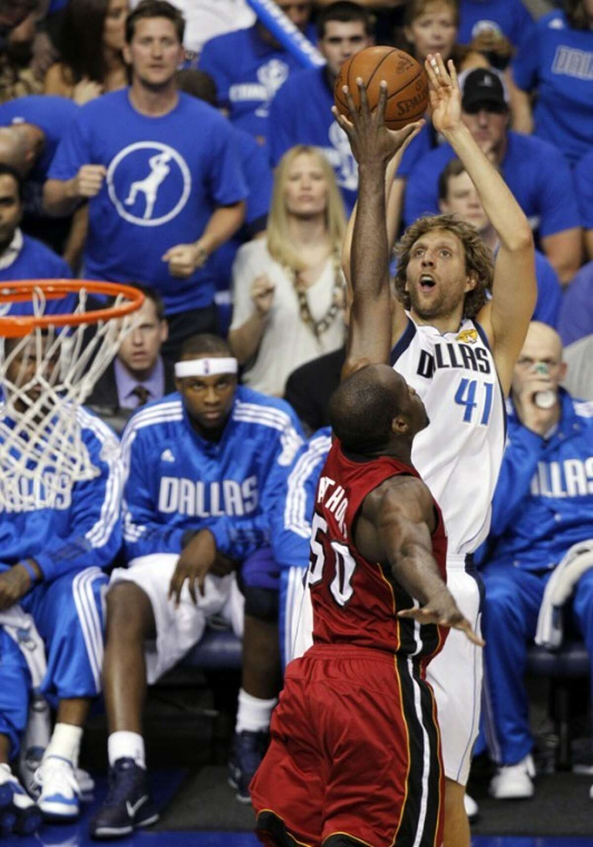 Dirk Nowitzki and the Dallas Mavericks will open their season on Wednesday. (AP Photo/LM Otero)