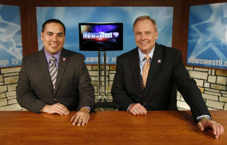 The KWES television station has some new faces. David Morino, left, is the  news director and Mike Gillaspia is an anchor for the 6 and 10 p.m. newscasts.  Photo: Chaney Mitchell/Reporter-Telegram