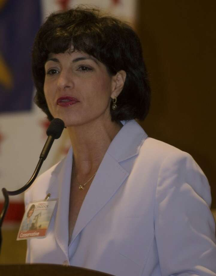 Christi Craddick, candidate for Texas Rail Road Commissioner, speaks Wednesday at the Midland County Republican Women's luncheon. Photo by Tim Fischer\ Reporter-Telegram Photo: Tim Fischer