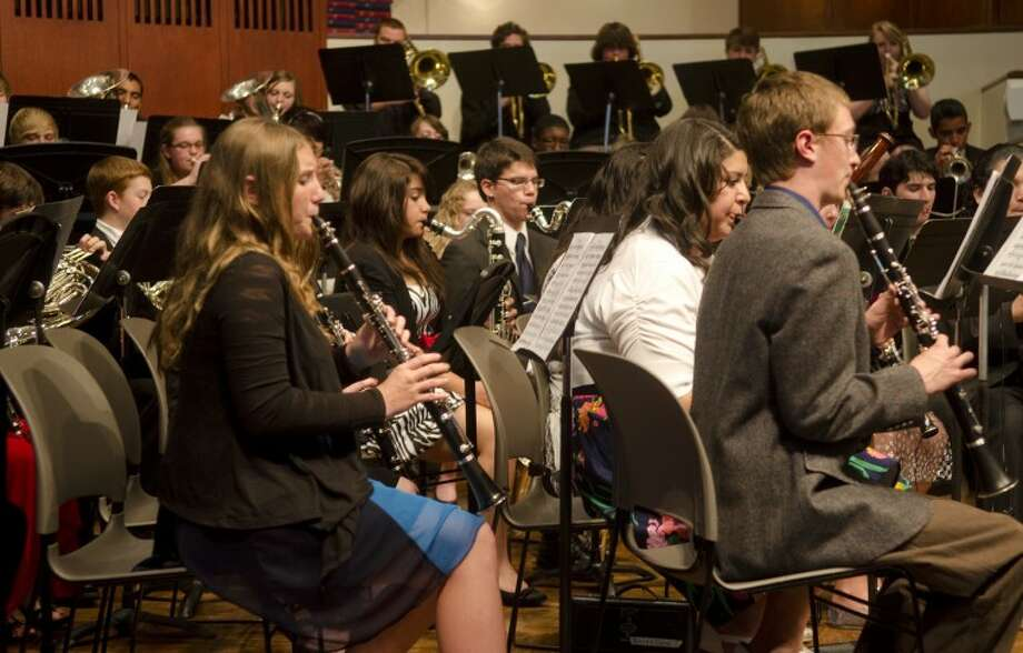 Members of Lee High Honor Band perform Wednesday at First Presbyterian Church Lenten Series Concert. Photo by Tim Fischer/Midland Reporter-Telegram Photo: Tim Fischer
