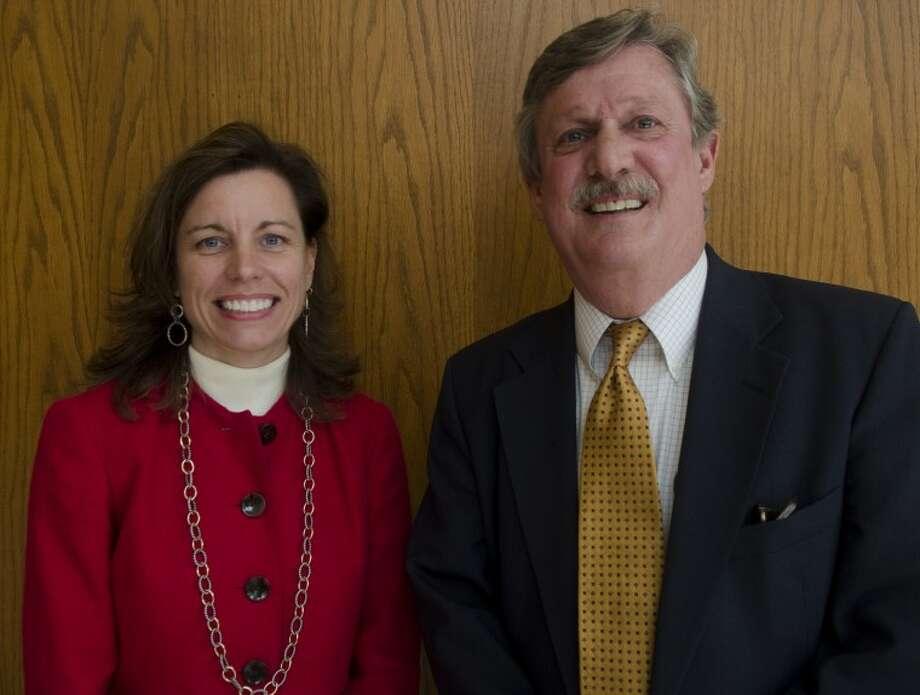 Elkizabeth Leonard and David Lindemood, in runoff for 238th District Court position. Photo by Tim Fischer\ Reporter-Telegram Photo: Tim Fischer
