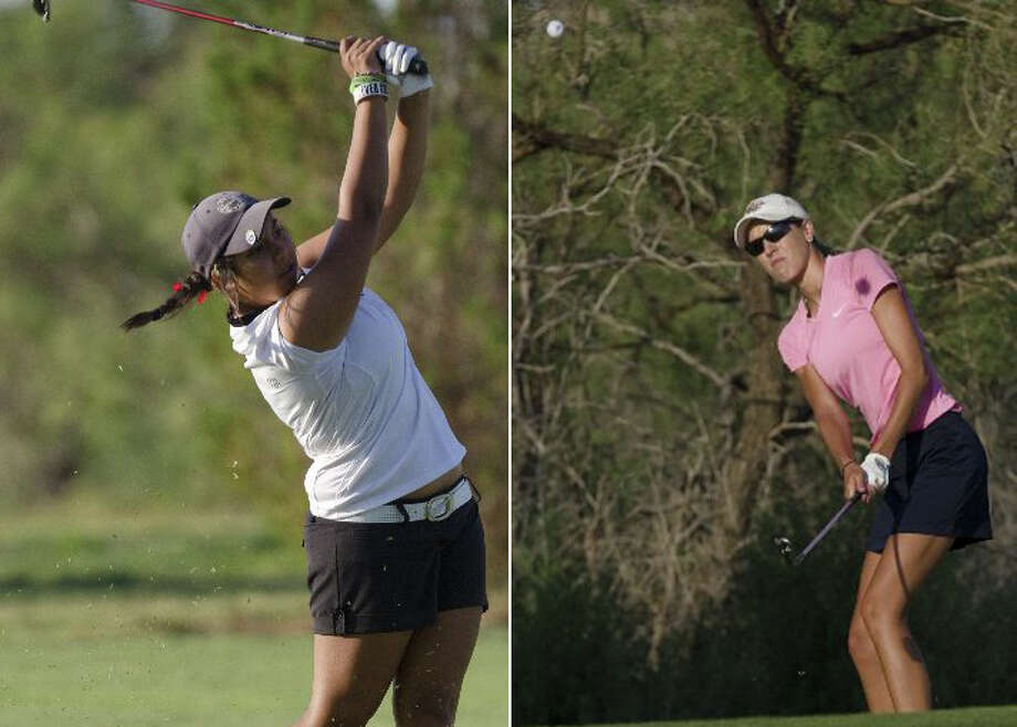 Christian Curnutte, left, and Danica Weddle, right, will compete at the Midland Women's City Golf Tournament in the final on Thursday, July 19, 2012. Photo: Tim Fischer