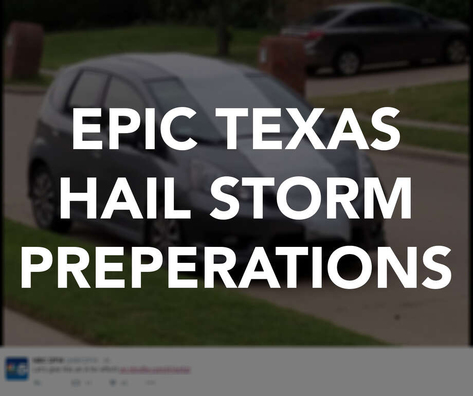 Texans got creative with their hail storm preparations on social media.Here are some of the funniest techniques.