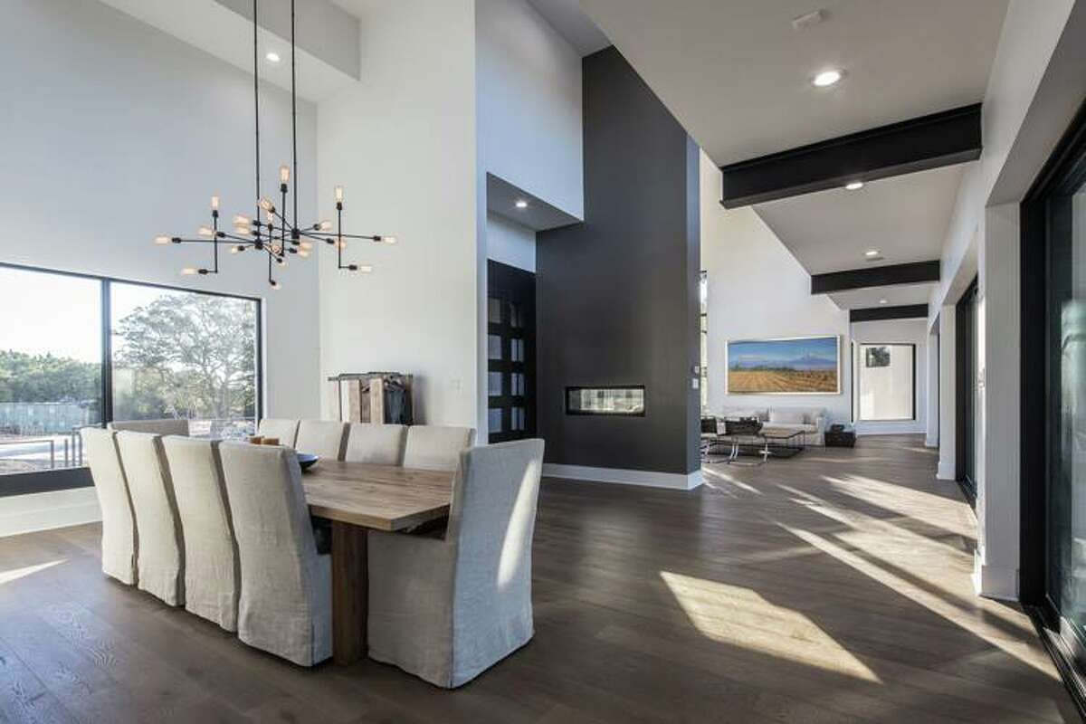 Indoors, the two-story abode spans 7,951 square feet.