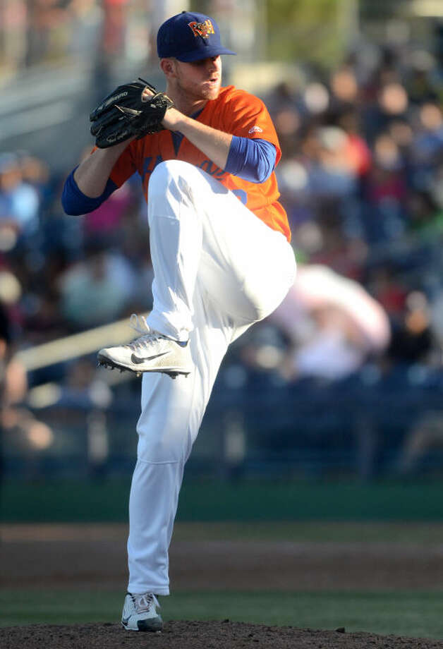 RockHounds pitcher Sean Murphy winds up to throw against Frisco earlier this month at Citibank Ballpark. James Durbin/Reporter-Telegram Photo: JAMES DURBIN