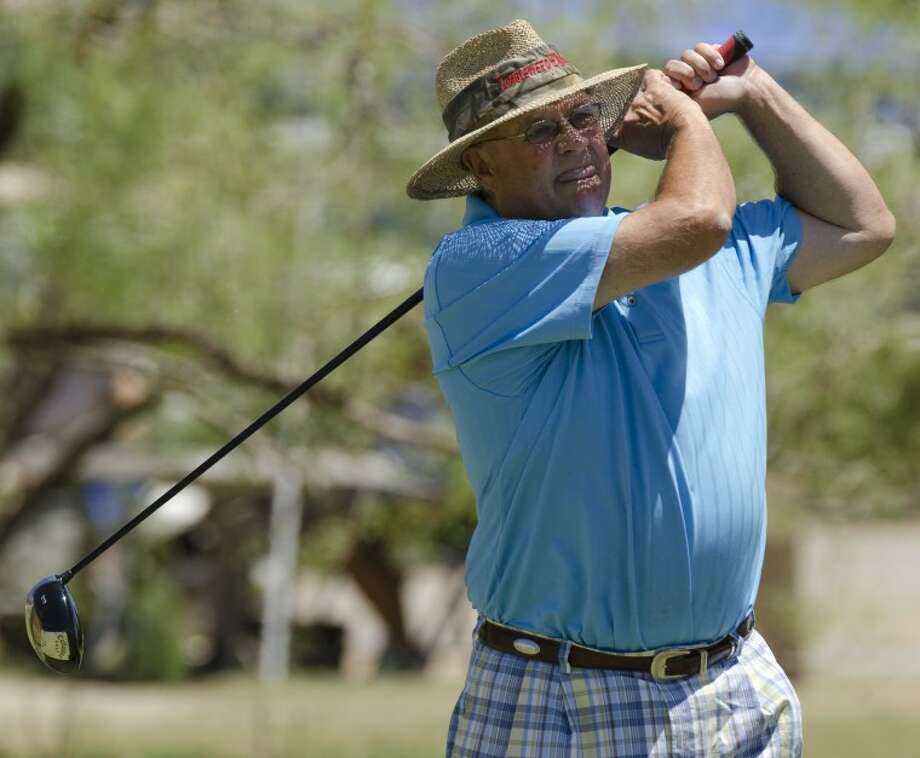 Joe Hart watches his tee shot Friday at the Midland Men's City Championship at Hogan Park. Photo by Tim Fischer\ Reporter-Telegram Photo: Tim Fischer