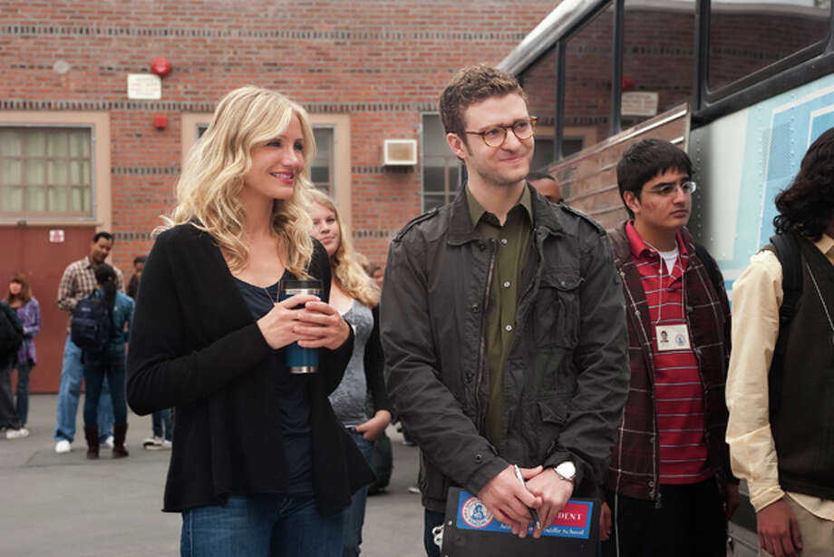 "In this film publicity image released by Columbia Pictures, Cameron Diaz, left, and Justin Timberlake are shown in a scene from ""Bad Teacher."" (AP Photo/Columbia Pictures - Sony, Gemma LaMana) Photo: Gemma LaMana / ©2011 Columbia TriStar Marketing Group, Inc.  All Rights Reserved. **ALL IMAGES ARE PROPERTY OF SONY PICTURES ENTERTAINMENT INC. FOR PROMOTIONAL USE ONLY.  SALE, DUPLICATION OR TRANSFER OF THIS MATERIAL IS STRICTLY PROHIBITED."