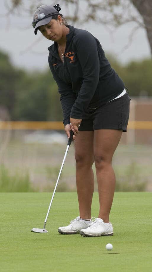 Christian Curnutte follows her putt Thursday at Hogan Park in the championship round of the Women's City Golf Tournament. Tim Fischer\Reporter-Telegram Photo: Tim Fischer