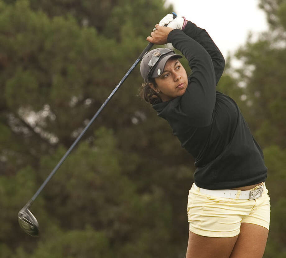 Christian Curnutte follows her shot Wednesday during play at Green Tree Country Club in the Women's City Golf Tournament. Tim Fischer\Reporter-Telegram Photo: Tim Fischer