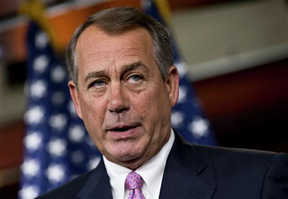 FILE - House Speaker John Boehner of Ohio speaks during a news conference on Capitol Hill in Washington, in this July 11, 2013 file photo. Photo: J. Scott Applewhite / AP