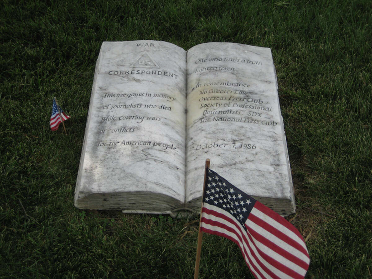 Memorial honoring journalists who died covering wars or conflicts at Arlington National Cemetery