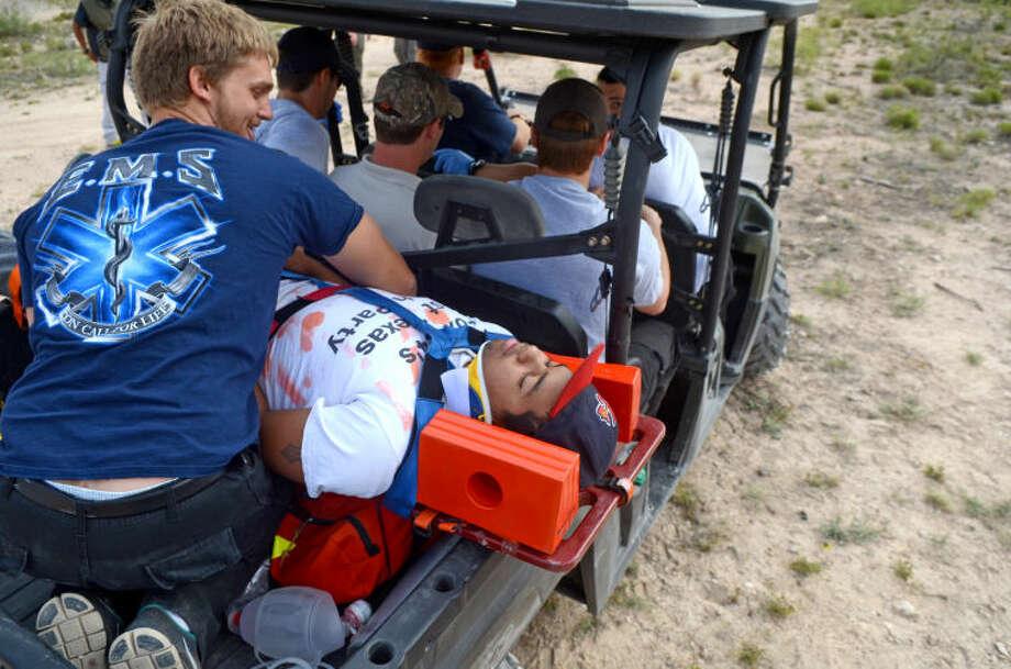Midland College Paramedic and EMT students participate in a real-world rescue scenario Saturday. James Durbin/Reporter-Telegram Photo: JAMES DURBIN