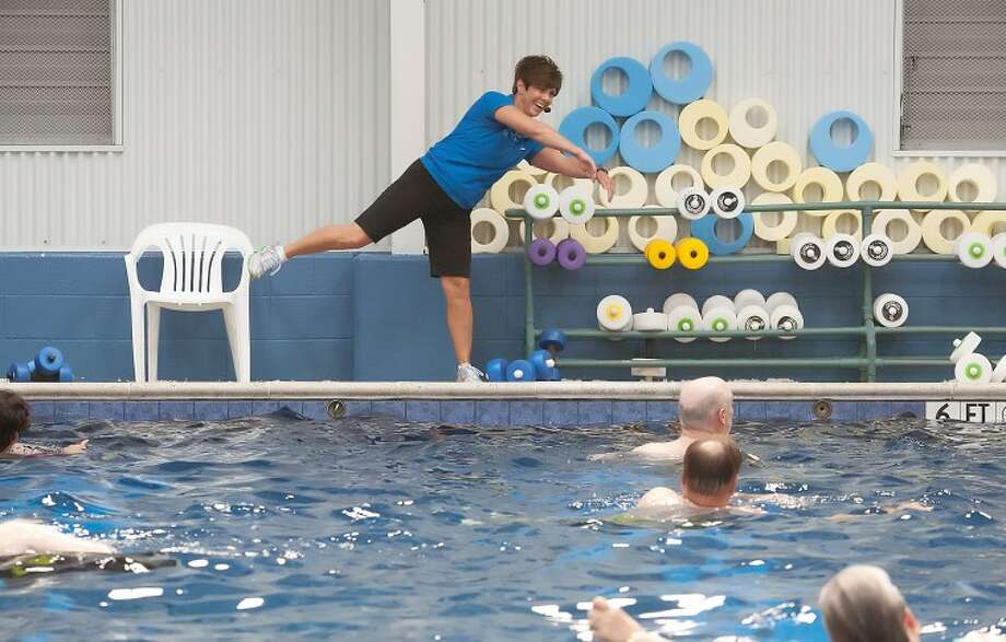 Adult Fitness Program Direct Tammy McAlister teaches a deep-water aerobics class Thursday at COM Aquatics. Cindeka Nealy/Reporter-Telegram Photo: Cindeka Nealy