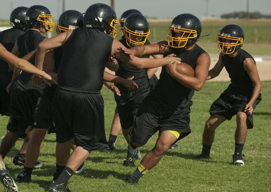 Grady players run drills Tuesday during practice. Tim Fischer\Reporter-Telegram Photo: Tim Fischer